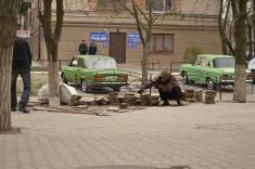 Скандальний підприємець порушує об'єкт благоустрою Новомосковська