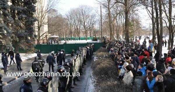 Дніпропетровськ  штурм обладміністрації 26 січня (ВІДЕО)