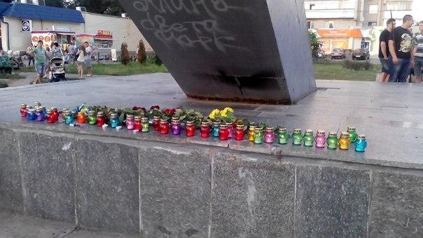 Новомосковська молодь вшанувала загиблих в АТО земляків