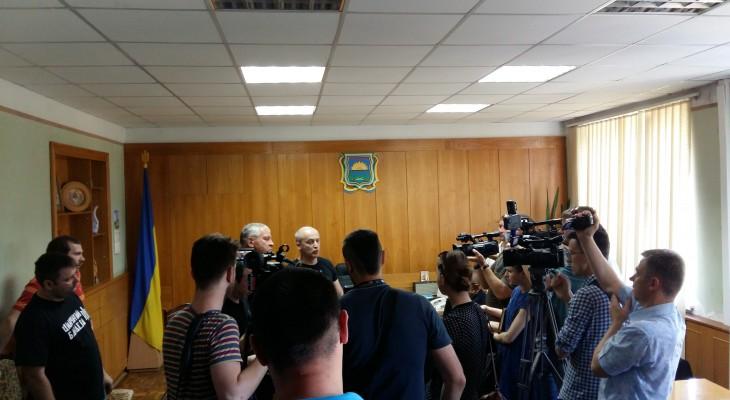 Корбан та Денисенко нанесли візит ввічливісті до голови Новомосковського РДА