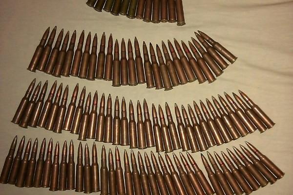 Пістолет з набоями, 100 набоїв калібру 7,62 мм  та штик-ніж до автомату «Калашнікова» вилучили новомосковські правоохоронці