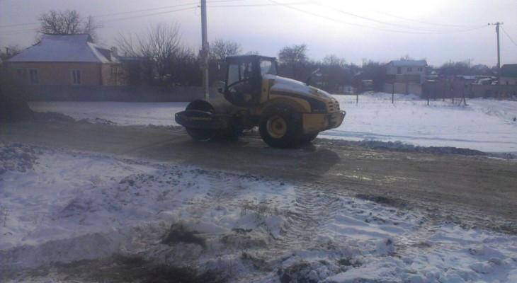 Инновационный метод ремонта дороги в Новомосковске (ФОТО)