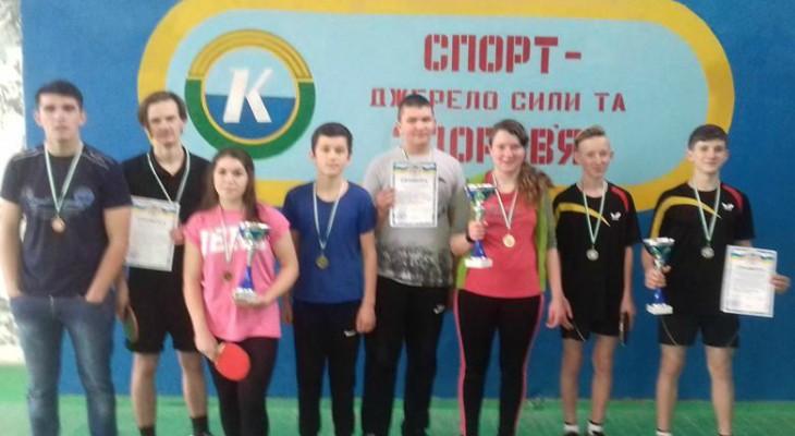 У Новомосковську пройшли змагання з настільного тенісу