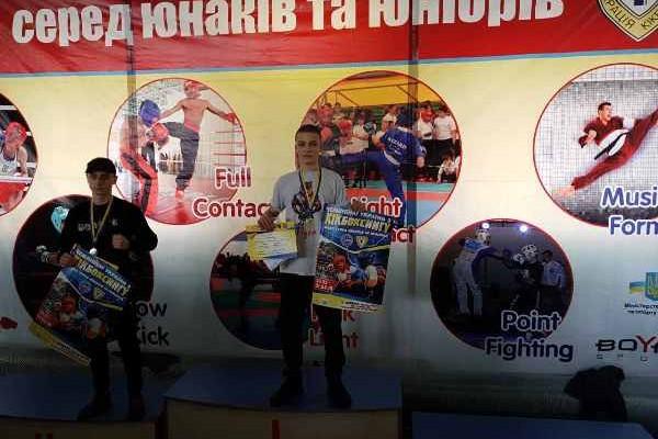 Кикбоксер с Новомосковщины завоевал золото на чемпионате Украины
