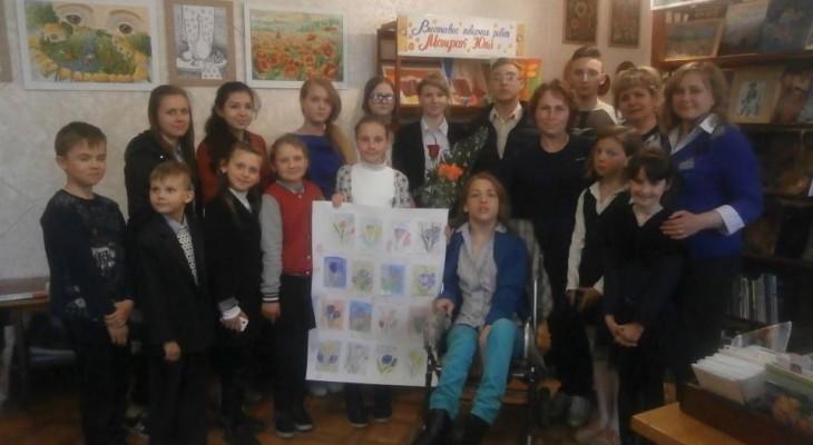 У Новомосковській бібліотеці пройшла виставка талановитої художниці