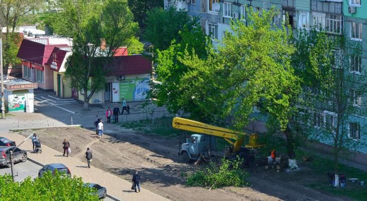 "Очередное ""озеленение"" города возле магазина Карата"