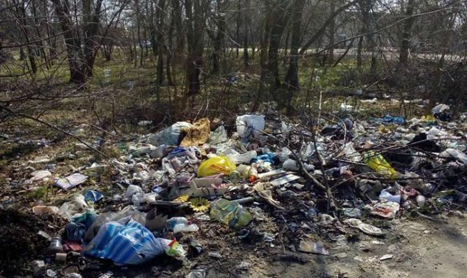Новомосковцы мусорят там где сами живут