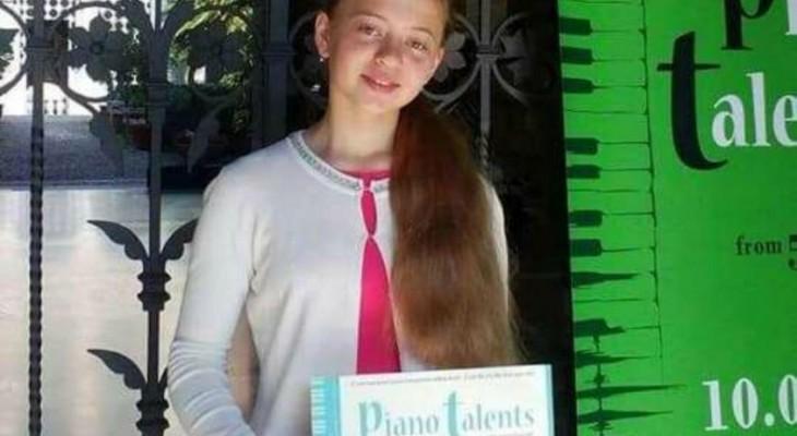 Юна піаністка родом з Новомосковщини завоювала перше місце на конкурсі у Мілані