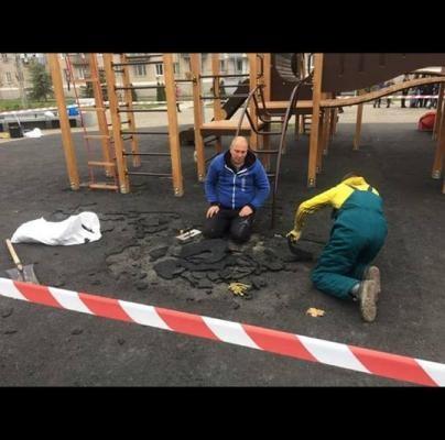 Ремонтные работы после открытия площади Героев в Новомосковске – пошёл третий день со дня открытия