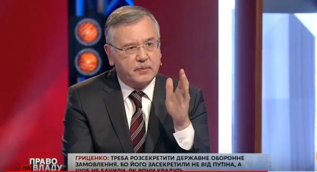 Порошенко сядет за мародерство, – Гриценко