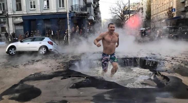 От неумелого управления городом мэром-боксером Кличко в Киеве «устают» мосты и трубы.