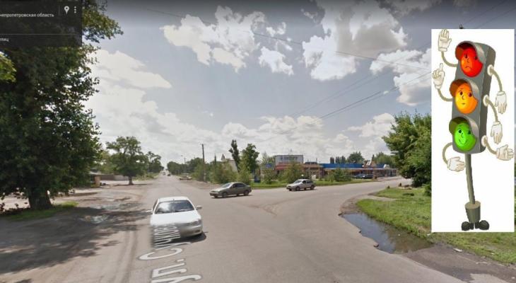 Новомосковськ. Встановлення світлофору на перехресті вулиць Спаська – Сучкова