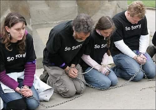 Вот так выглядят настоящие рабовладельцы! Или идиоты?