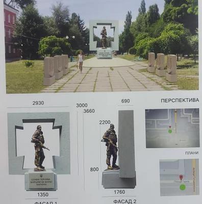 """У квітні 2021р. в центрі площі Героїв збудують """"Браму"""" на честь загиблих Героїв АТО!"""