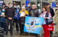 У Дніпрі влаштували акцію протесту проти обмеження часу безкоштовного проїзду у громадському транспорті.
