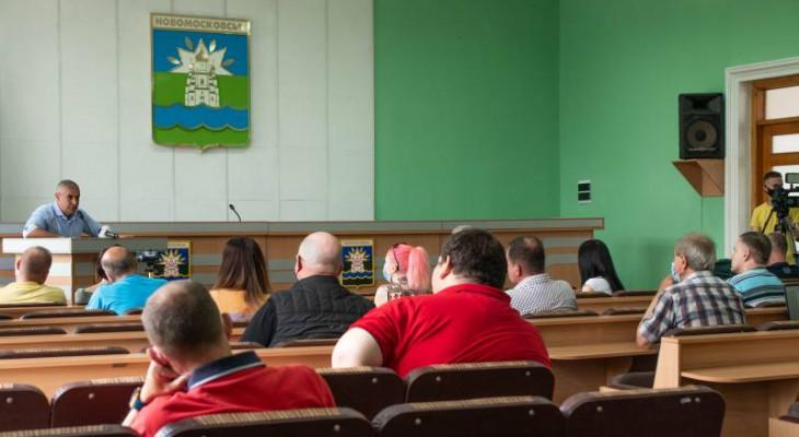 Міський голова Сеогій Рєзнік відповів на проблемні питання підприємців Новомосковська