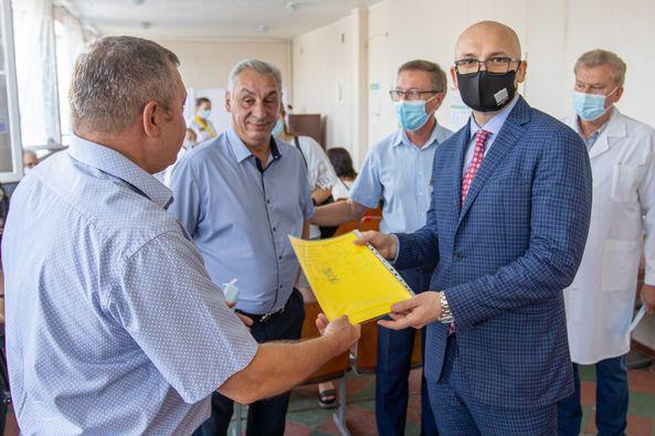 У Новомосковську проінспектували пункти масової вакцинаціївід COVID-19
