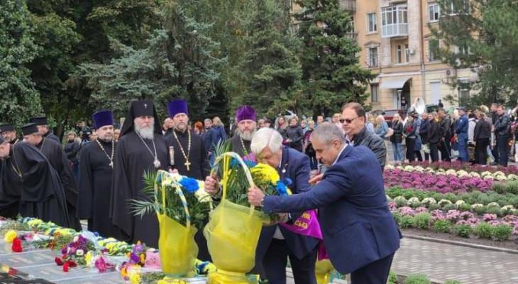 У Новомосковську пройшов мітинг пам'яті, присвячений78й річниці визволення міста від нацистських загарбників