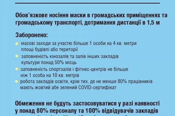 Україна переходить в «жовту» зону карантину